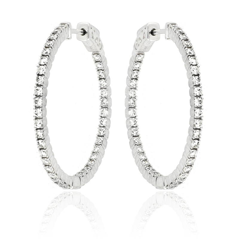 Diamond Earrings Photography