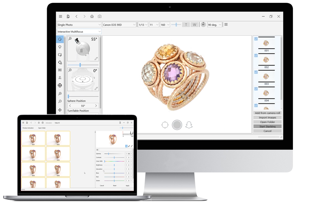 software photo for jewelry